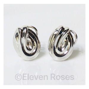 Tiffany & Co Sterling 14k Knot Earrings